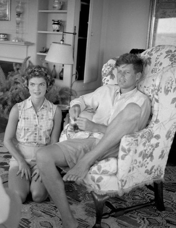 Jacqueline Bouvier and John F. Kennedy in Hyannis Port