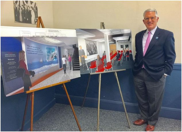 John Allen, Museum Director, with plans for Museum Renovation