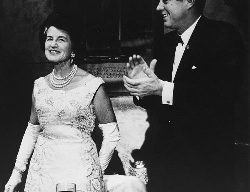Rose Kennedy with her son, President John F. Kennedy in 1962
