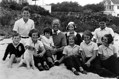 Rose and Joe Kennedy with the Kennedy Children in Hyannis Port, 1931