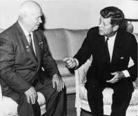 John F. Kennedy and Khrushchev