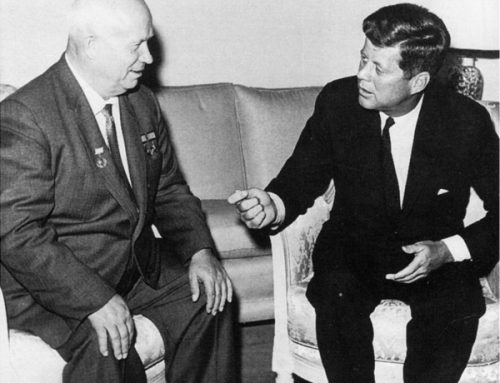President John F. Kennedy with Nikita Khrushchev of the Soviet Union, June 1961