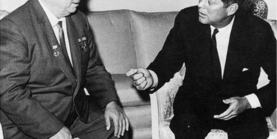 John F. Kennedy and Khrushchev