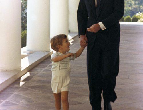 President Kennedy and his son, John F. Kennedy Jr. 1963