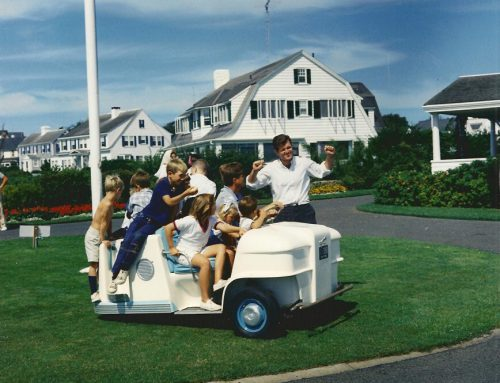 Ted Kennedy and Kennedy children in Hyannis Port