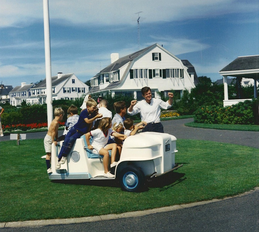 Ted Kennedy and Kennedy Children at Hyannis Port