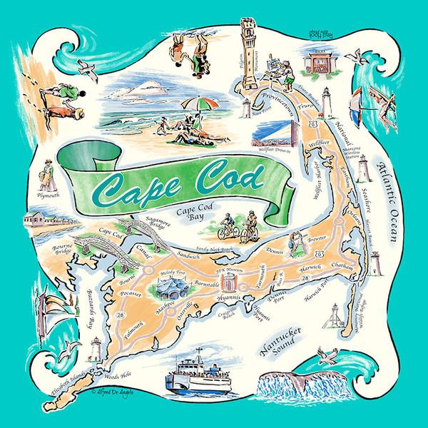 Cape Cod Scarf teal