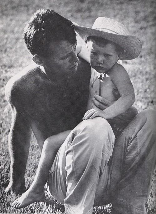 Robert F. Kennedy and son