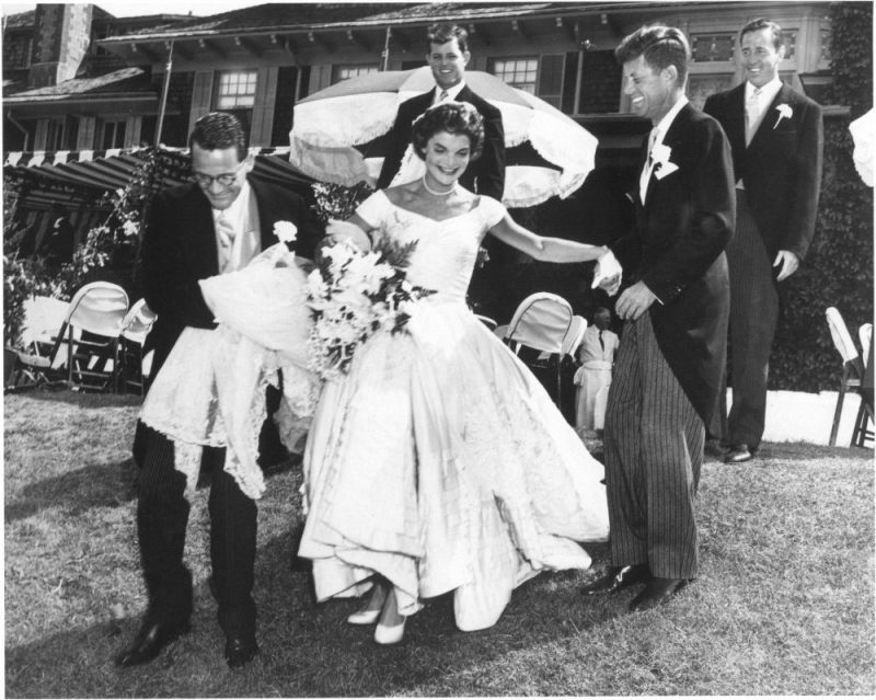 Jacqueline and John F. Kennedy Wedding with Ushers