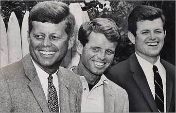 John F. Kennedy, Robert Kennedy and Ted Kennedy