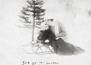Rose Kennedy and Joe Kennedy Jr. Circa 1916-1917