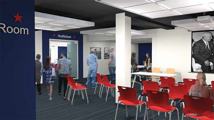 Community Room - Entering the Auditorium