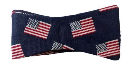 US Flag bow tie