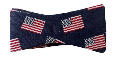 US Flag bow tie