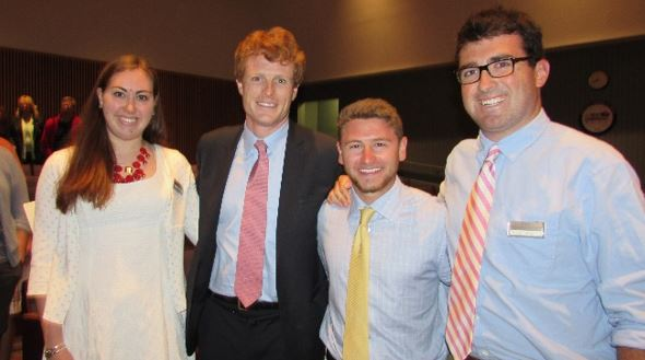 JFK Hyannis Museum (our interns with former U.S. Rep. Joseph P. Kennedy, III)
